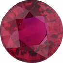 Lovely Ruby Loose Gem in Round Cut, Vibrant Purple Red, 6.18 mm, 1.31 Carats
