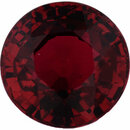 Good Looking Ruby Loose Gem in Round Cut, Vibrant Red, 5.61 mm, 1.05 Carats