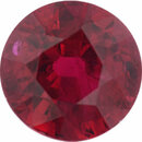 Top Gem Ruby Loose Gem in Round Cut, Vibrant Red, 6.23 mm, 1.54 Carats