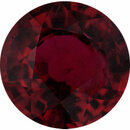Nice Ruby Loose Gem in Round Cut, Vibrant Purple Red, 6.11 mm, 1.12 Carats