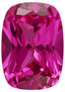 Grade GEM CHATHAM CREATED PINK SAPPHIRE antique cushion Cut  - Calibrated