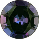 Special Buy On Alexandrite Loose Gem in Round Cut, Vibrant Blue Green to Vibrant Purple Pink, 4.78 mm, 0.49 Carats