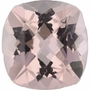 Very Fine Morganite Loose Gem in Antique Square Cut, Lightly Purple Red, 9.93 x 9.93  mm, 3.4 Carats