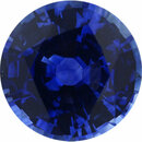 Nice Looking Sapphire Loose Gem in Round Cut, Medium Blue Violet, 5.97 mm, 0.98 Carats