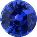 Genuine Sapphire Loose Gem in Round Cut, Vibrant Violet Blue, 6.33 mm, 1.1 Carats