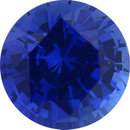 Faceted Sapphire Loose Gem in Round Cut, Light Violet Blue, 5.5 mm, 0.88 Carats