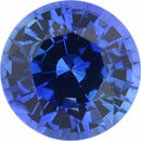 Eye-Catching Sapphire Loose Gem in Round Cut,  Light Violet Blue, 6.6 mm, 1.4 Carats
