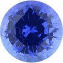 Natural Sapphire Loose Gem in Round Cut, Light Violet Blue, 5.94 mm, 0.98 Carats