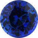 Nice Looking Sapphire Loose Gem in Round Cut, Medium Violet Blue, 5.1 mm, 0.63 Carats