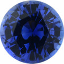Quality Sapphire Loose Gem in Round Cut, Light Violet Blue, 5.02 mm, 0.57 Carats