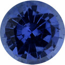 Nice Looking Sapphire Loose Gem in Round Cut, Vibrant Blue Violet, 5.45 mm, 0.73 Carats
