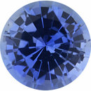 Good Looking Sapphire Loose Gem in Round Cut, Light Violet Blue, 5.43 mm, 0.73 Carats