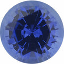 Low Price On Sapphire Loose Gem in Round Cut, Medium Violet Blue, 5 mm, 0.59 Carats