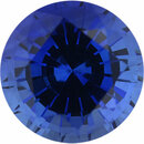 Nice Looking Sapphire Loose Gem in Round Cut, Medium Violet Blue, 6.02 mm, 1.12 Carats