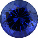 Bargain Priced Sapphire Loose Gem in Round Cut, Vibrant Violet Blue, 7.42 mm, 2.16 Carats