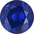 Sharp Sapphire Loose Gem in Round Cut, Vibrant Violet Blue, 6.94 mm, 1.34 Carats