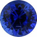 Lovely Sapphire Loose Gem in Round Cut, Vibrant Violet Blue, 6.45 mm, 1.41 Carats