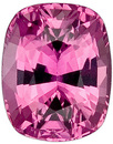 Super Bright Sapphire Loose Gemstone in Cushion Cut, Rich Pink, 5.9 x 4.7 mm, 0.91 carats