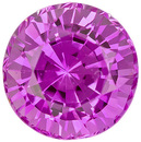 Vivid Pink Sapphire Loose Ceylon Gem in Round Cut, 5.0 mm, 0.77 carats
