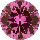 One-of-a-Kind Sapphire Loose Gem in Round Cut, Medium Red Purple, 5.46 mm, 0.7 Carats