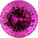 Sharp  No Treatment Sapphire Loose Gem in Round Cut,  Purplish Red, 5.74 mm, 0.99 Carats