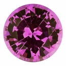 Best  No Heat Sapphire Loose Gem in Round Cut, Medium Red Purple, 6.48 mm, 1.25 Carats