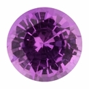 Good Looking  No Treatment Sapphire Loose Gem in Round Cut, Light Purple Pink, 6.02 mm, 1.06 Carats