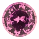 Fabulous  No Heat Sapphire Loose Gem in Round Cut, Light Purple Pink, 6.75 mm, 1.46 Carats