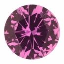 Lovely  Untreated Sapphire Loose Gem in Round Cut, Medium Red Purple, 6.57 mm, 1.15 Carats
