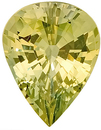 Stunning Bright  Unheated Yellow Sapphire Gemstone, AGL Cert,  for SALE, Pear Shape, 2.45 carats