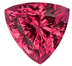Strong Color Red Tourmaline Natural Gemstone for SALE,  Trillion Cut, 8.1 x 8.1 mm, 1.95 carats