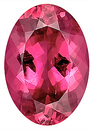 Intense,  Rich Raspberry Tourmaline Genuine Gemstone,  Oval Cut, 12.3 x 8.7 mm, 3.97 carats
