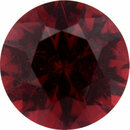 Attractive Tourmaline Loose Gem in Round Cut, Dark Purple Red, 8.67 mm, 2.37 Carats