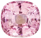 So Beautiful No Treatment Peachy Pink Sapphire Gem in Cushion Cut, Soft Light Peach Color in 7.8 x 7.4 mm, 2.40 carats - GIA Certified