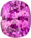 Vivid Bright Rich Pink Sapphire,  6.7 x 5.6 mm, Cushion Cut, 1.24 carats