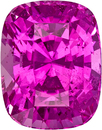 Ceylon Hot Pink Sapphire Loose Gem in Cushion Cut, 8.4 x 6.6 mm, 3.09 Carats