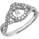 Dazzling Diamond Accented 1/4ctw Preset Base With Sophisticated Twisted Band and Halo Design