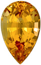 Excellent Clarity Topaz Loose Gem in Pear Cut, Medium Rich Peach Golden, 11.9 x 7.4 mm 3.45 carats