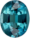 Rich Teal Blue Tourmaline Loose Gem in Oval Cut, Neon Like Color, 10.4 x 8.2 mm 2.94 carats