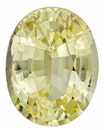 Very Beautiful Unheated Sapphire Loose Gem in Oval Cut, Pure Light Yellow, 7.3 x 5.7 mm, 1.22 carats - With GIA Certificate