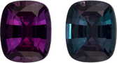 Vibrant Eggplant to Teal Alexandrite Loose Gem from Brazil in Cushion Cut, 5.1 x 4.2 mm, 0.47 Carats