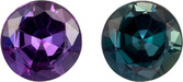 Striking Blue Green to Eggplant Alexandrite Genuine Brazil Gem in Round Cut, 4.1 mm, 0.38 Carats