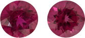 Matched Rubelite Tourmaline Round Gemstones, German Cut in 7.50 mm, 3.08 carats