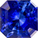 Vivid Blue Sapphire Loose Gem in Radiant Cut, 4.5 mm, 0.51 carats