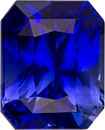 Intense Rich Blue Sapphire Gem in Radiant Cut, 7.1 x 5.7 mm, 1.68 carats
