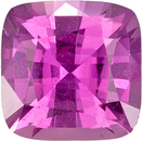 Rich Pink Sapphire Gem in Cushion Cut,  5.36 x 3.49 mm, 0.89 carats - GIA Certified