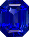 2.61 carats Stunning Vivid Blue Sapphire Gemstone in Classic Emerald Cut, 8.6 x 6.7 mm,