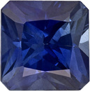 Very Desirable Sapphire Loose Gem in Square Cut, Medium Rich Blue, 5 mm, 0.8 Carats