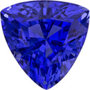 Super Lively Sapphire Loose Gem in Trillion Cut, Velvety Cobalt Blue, 8.7 mm, 3.23 Carats