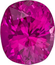 Pink Sapphire Ring Stone Loose Gem in Cushion Cut, Vivid Rich Pink Color in 6.9 x 5.8 mm, 1.47 Carats